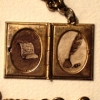 Brown Paper and Feather Pen in Book Locket