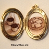 Coffee and Biscuits in Oval Locket