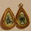 Green Fairy and Absinthe in Teardrop Locket