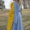 Blue Herringbone Irish Dress - QuarterBack View