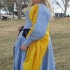 Blue Herringbone Irish Dress - Side View