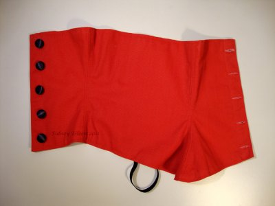 Formal Red Spats - Outside
