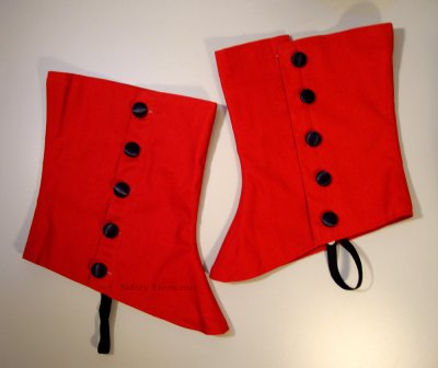 Formal Red Spats
