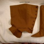 Fitted Brown Canvas Gaiters - Outside