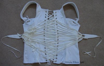 Corded Regency Corset - Back
