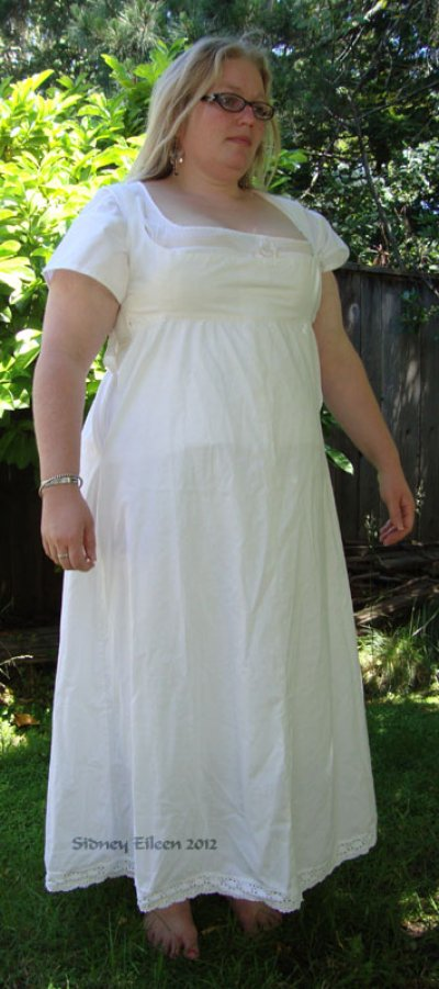 Regency Bodiced Petticoat - Modeled