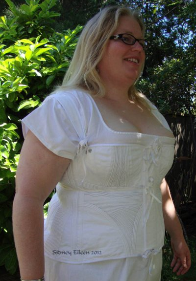 Corded Regency Corset - Modeled