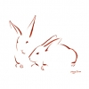 Minimalist Two Bunnies 1