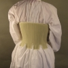 Linen Partlet - Back View with Stays