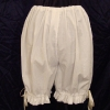 Linen Crotchless Bloomers - Back View