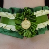 Green and Cream Ribbon Collar