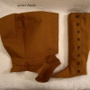 Fitted Brown Canvas Gaiters - Inside
