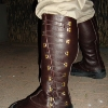 Leather Gaiters - Modeled