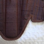 Brown Silk Renaissance Stays - Bottom Edging Detail, by Sidney Eileen