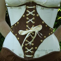 Leather and Coutil Grommeted Underbust