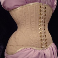 Diamond Brocade Coutil Tight Lacing Corset