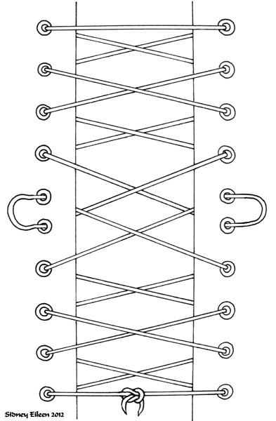 Как сделать как у корсета шнуровку