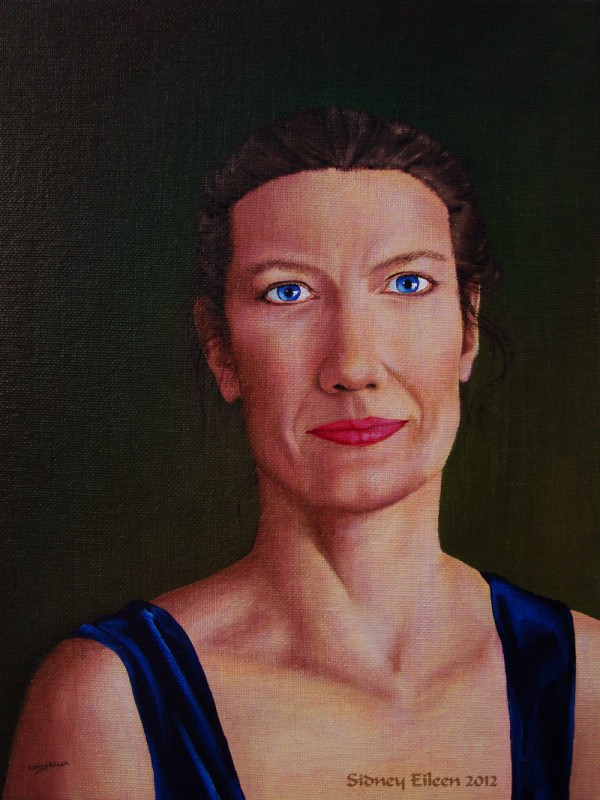 "Diana - Commissioned Portrait 9""x12"" oil paint on canvas board"