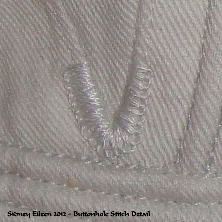 Detail of the Gore Point Reinforcement Stitches