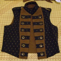 Men's Reversible Vest - Brocade Open