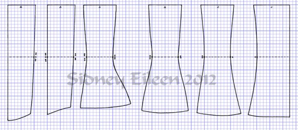 """Curvy"" Proportion Underbust Corset Scale Pattern"