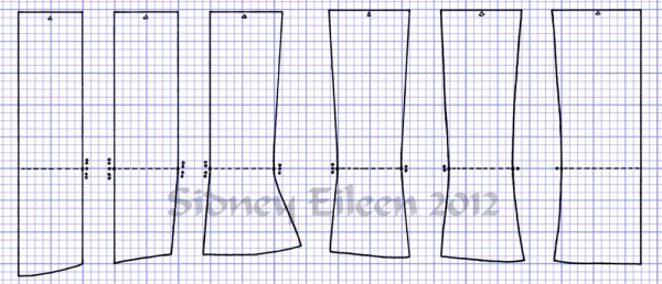 """Men's"" Proportion Underbust Corset Scale PatternHow to Draft an Underbust Corset From Scale, by Sidney Eileen"