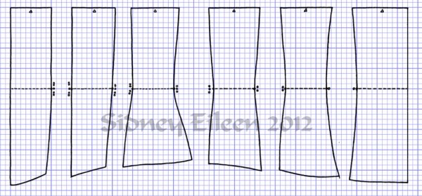 """Square"" Proportion Underbust Corset Scale Pattern"