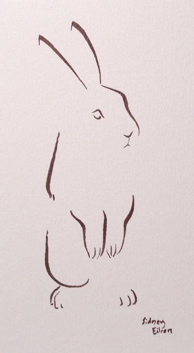 New art minimalist bunny by sidney eileen for Minimalisme art