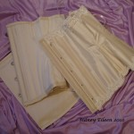 Cream Silk Underbust with Lace Edging - Open, by Sidney Eileen