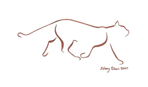 Minimalist Line Art : Minimalist cat by sidney eileen