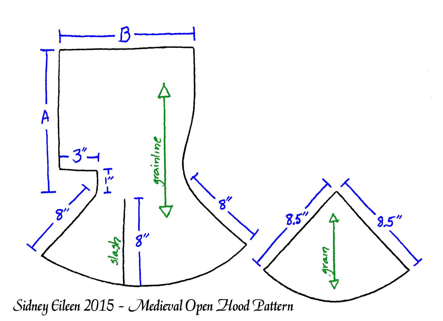 Medieval open hood pattern by sidney eileen jeuxipadfo Choice Image