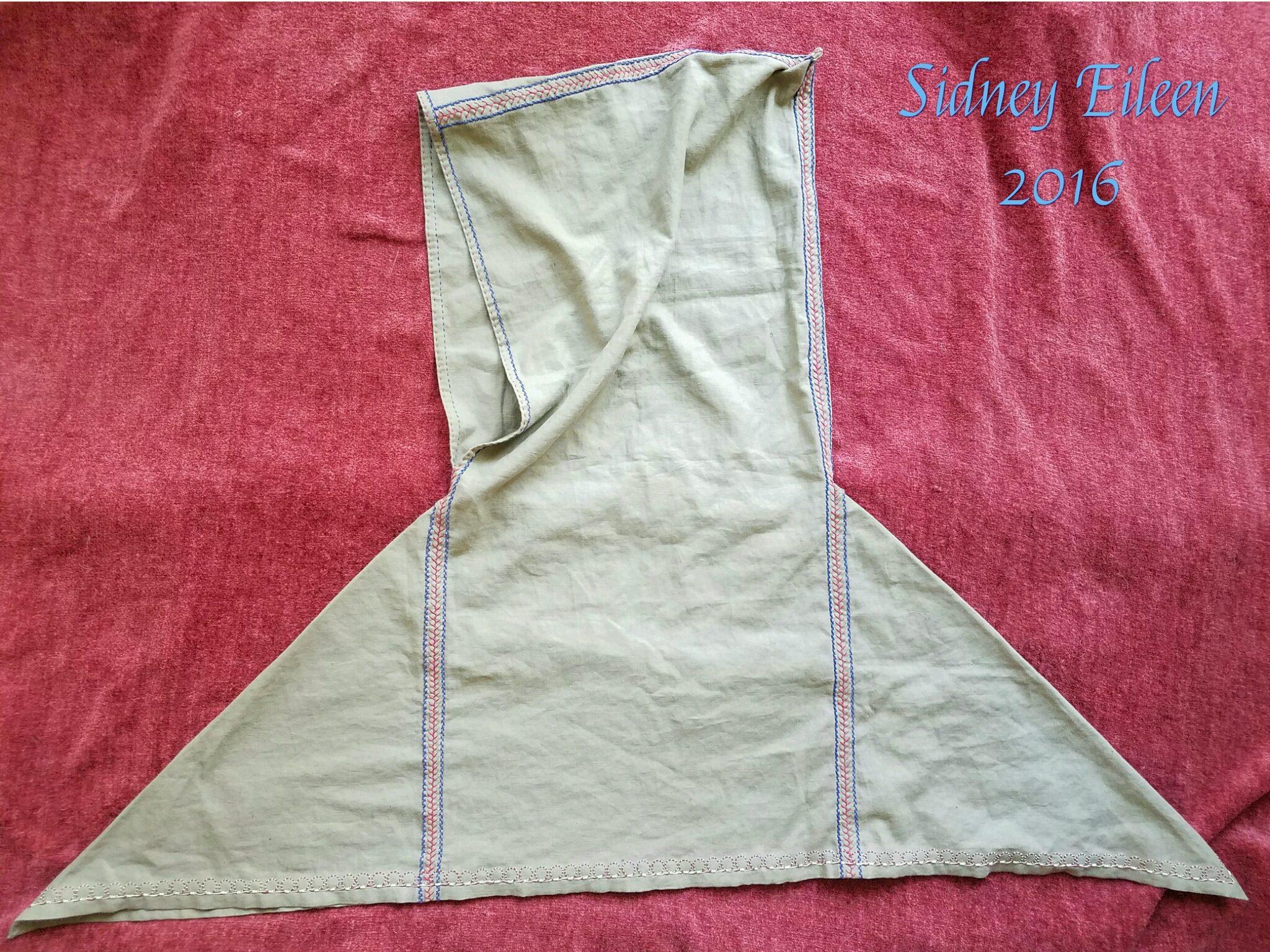 Green Linen Viking Hood, By Sidney Eileen; It Is Linen, Entirely Hand Sewn